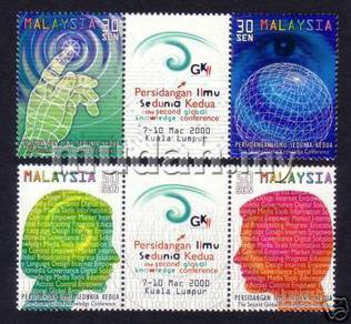 Mint Stamps Global Knowledge Conference Msia 2000
