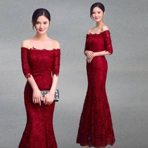 Red wedding bridal prom dress gown RBP0609