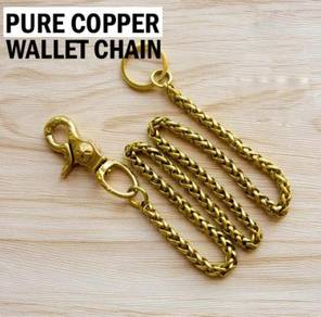Pure Copper Wallet Chain | Rantai Wallet Tembaga
