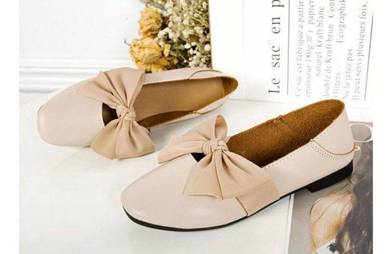 8063 Spring Bow Ribbon Flat Shoes