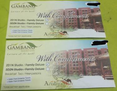 Bukit gambang resort city voucher
