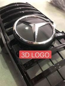 Mercedes benz W205 GT diamond grille grill 3d LOGO