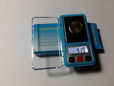 S Pocket 0.01gMini Digital Scale Penimbang