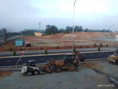 Tanah Stesyen Minyak (Taman Juasseh Sentosa) Tepi Jalan Utama Freehold