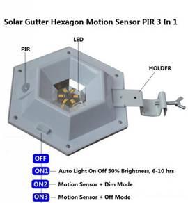 Solar Hexagon PIR sensor motion 3 Modes Waterproof