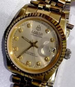 Jam swiss ETA Lobor Index diamond D watch