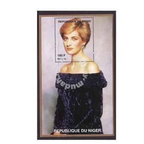 Princess Diana stamp minisheet 1997 Niger mnh D7