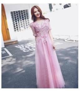 Pink wedding bridal prom dress gown RBP0611
