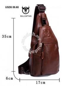 Genuine Leather Bull Captain Shoulder Bag