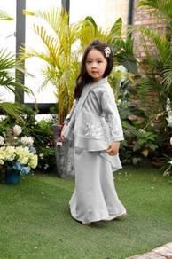 2019 Raya Lace Kebaya Moden Budak GRAY