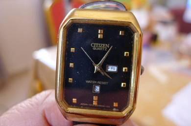 Citizen Black Rectangular Dial Watch