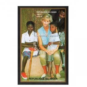 Princess Diana stamp minisheet 1997 Niger mnh D5