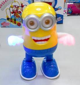 Dancing minion toy with light and music