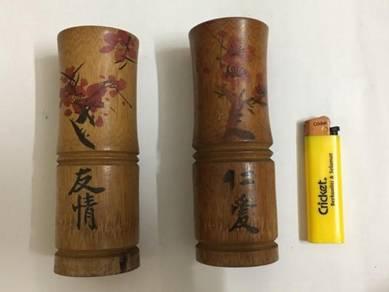 China Vintage Bamboo Cane Tube Casing Case