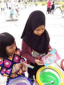 Pasir warna kanak-kanak (sand art set)
