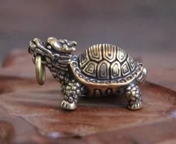 Copper Pure Turtle Keychain | Keychain Tembaga