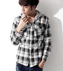 0599 Stylish Hoodie Men Casual Long-Sleeved Shirt