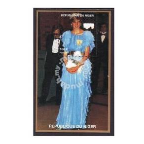Princess Diana stamp minisheet 1997 Niger mnh D6