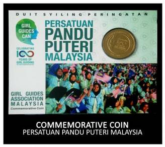 Coin Card - 100th Years Of Girl Guides Malaysia