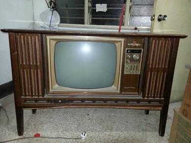 Old TV 1960s Black & White Color for Sale