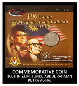 Coin Card - 100thn Tunku Abdul Rahman