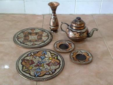 Hiasan tembaga copper decor set