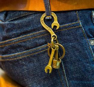 Pants Hook Copper Keychain | Keychain Tembaga