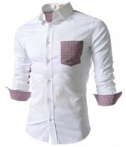 0585 Kemeja Lengan Panjang Putih Work Shirt White