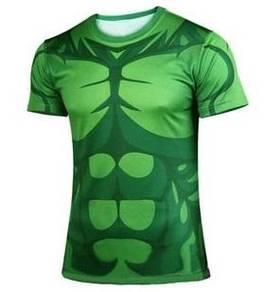 AVENGERS HULK Quick-Dry Sport Short Sleeve T-Shirt