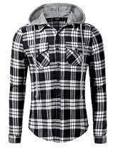 0599 Black Hoodie Kemeja Hitam Long Sleeved Shirt