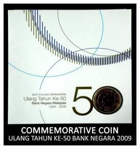 Coin Card - Ulang Tahun Ke-50 Bank Negara 2009