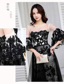 Black wedding bridal prom dress gown RBP0618