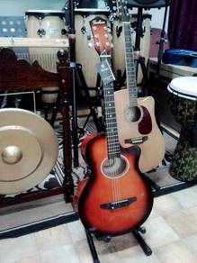 Techno T6000 Redburst Acoustic Guitar