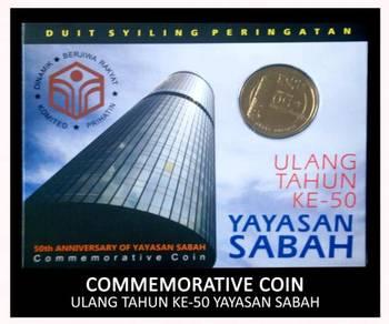 Coin Card - Ulang Tahun Ke-50 Yayasan Sabah