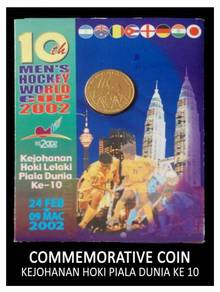 Coin Card - 10th Men's Hockey World Cup 2002