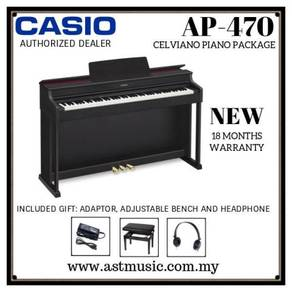 Casio AP470 ap470 88 Keys Digital Piano With Bench