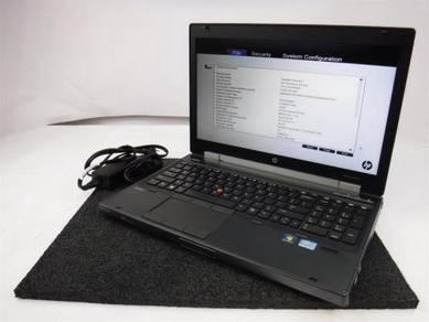 HP EliteBook 8570W Quad Core i7-3720QM 2.6GHz 8GB