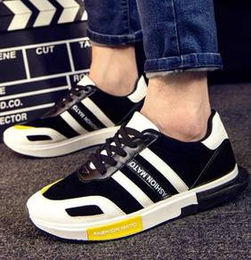 F0249 Mixed Color Sneakers Black White Sport Shoes