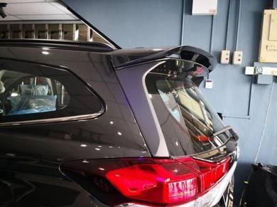 Perodua aruz rs top spoiler material abs+painting