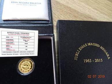 Bank Negara Malaysia proof gold coin 2015