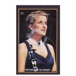 Princess Diana stamp minisheet 1997 Niger mnh D9