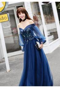 Blue wedding bridal prom dress gown RBP0614