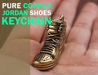 Pure Copper Shoes Design Keychain | Tembaga