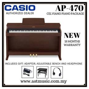 Casio Celviano AP-470 ap470 Digital Piano-Brown