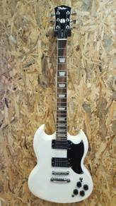 Shelter SG series electric guitar white Brand New