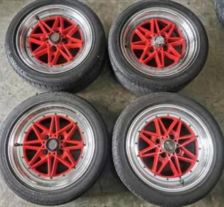 Sport rim Used Tyre Tayar Work equip 03 15 myvi