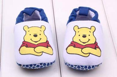 Style Charming Baby Prewalker shoes- Pooh White