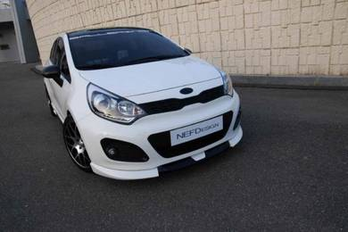 Kia rio nefd bodykit skirt with paint body kit