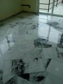 ^*,,, Parquet varnish marble polishing.