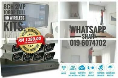 Wireless wifi cctv 8ch 2mp 1080p full hd